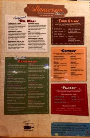 Havelock, NC: Menu (since their website links aren't working)
