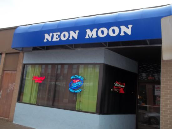 Meadville, PA: Front view of Neon Moon from Market Street.