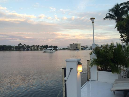 The Pillars Hotel Fort Lauderdale: View from the deck.