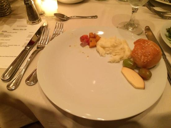 The Inn on Biltmore Estate: This is what Christmas Eve dinner looked like for a vegetarian at the Inn at Biltmore.