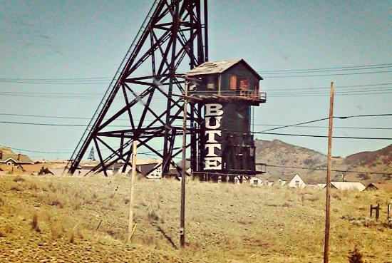A tower in Butte