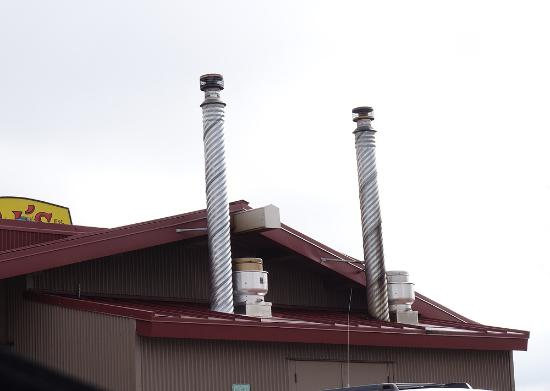 BJ's Nevada Barbecue Company: Smoke stacks from the real smoker!