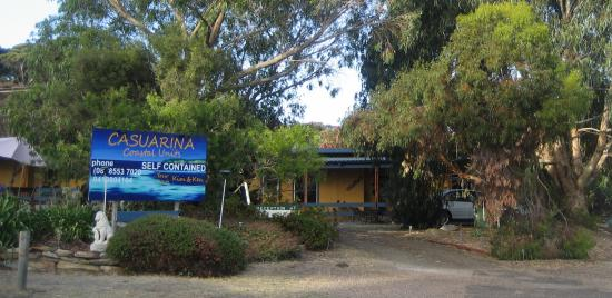 Casuarina Coastal Units: Front entry, our car at Unit 1