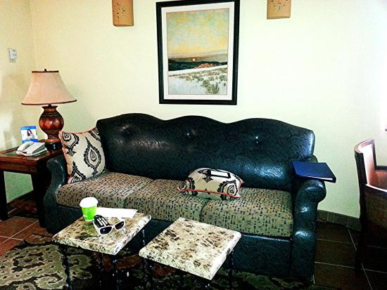 Worldmark Santa Fe: I love the designs on the sofa!