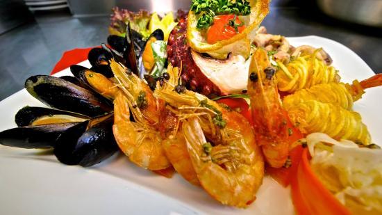 Hotel Kohlerhof: Leckere Meeresfrüchteplatte aus unserer Küche