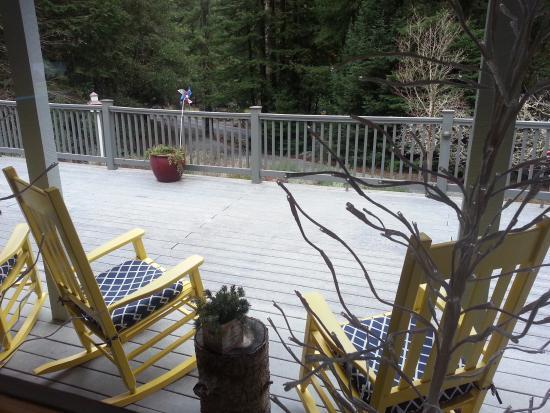 Loma Mar, كاليفورنيا: Front deck