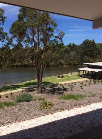 Metricup, Australia: View from chalet 1 overlooks lake and function centre