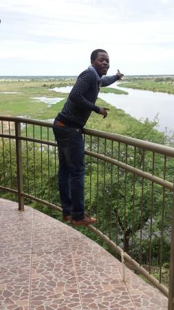 Rundu, Namibia: Kavango river lodge view