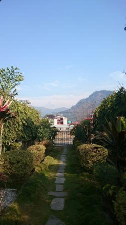 Hotel The Cherry Garden: View of macchapuchre!
