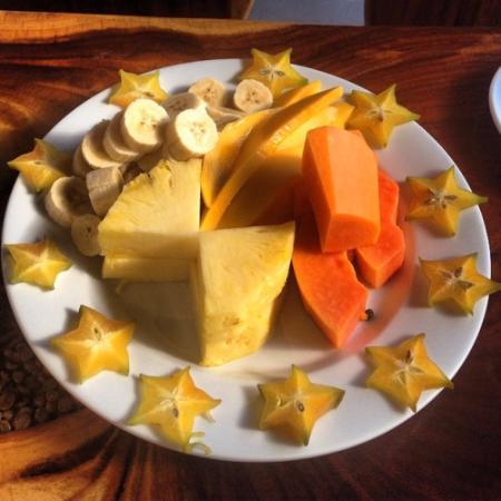 Ciudad Colon, Costa Rica: Parte del desayuno que nos prepararon ¡Riquísimo y genial servicio!