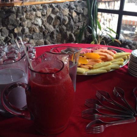 San Rafael, Κόστα Ρίκα: Fantásticos desayunos, muy completos y sanos, fruta natural