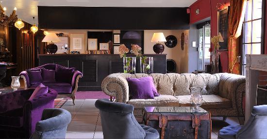 Hôtel Restaurant Mercator : Réception et salon