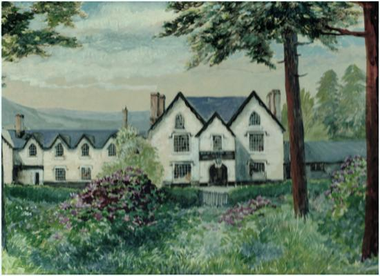 Penybont, UK: Water Color of the Severn Arms Painted by a Guest