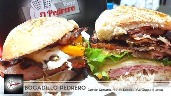 San Isidro, Spanien: Bocadillo Especial Pedrero simplemente expectacular