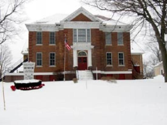 The museum building, once Hanover High School, now on National Register of Historic Places.