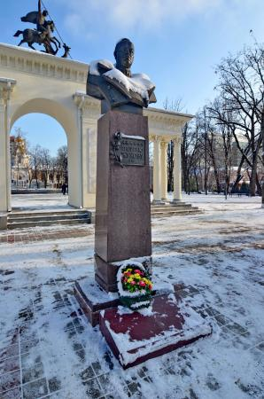 Bust Monument Georgy Zhukov