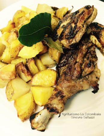 Vicchio, Italien: Pollo ruspante alla griglia
