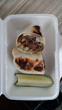 Upton, MA: DPW Wrap - a weekday special; steak and cheese with french fries, IN the wrap!