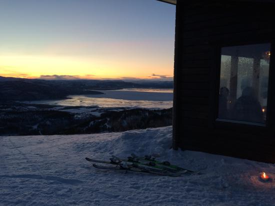Alta Municipality, Norwegen: Bjørnehiet on top of the hill