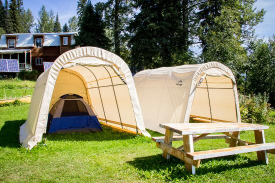 Bear River Mercantile Tent shelters for the rainy days. & Tent shelters for the rainy days. - Picture of Bear River ...