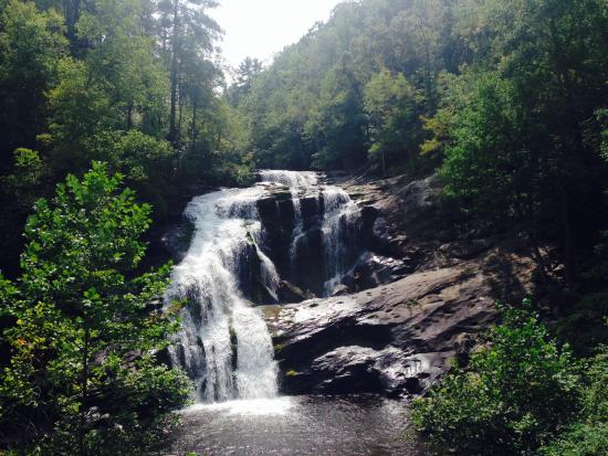 Robbinsville, NC: One of the many waterfalls in the area