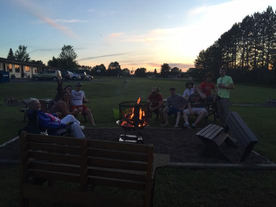 Spooner, WI: Guests Enjoying a Campfire- BluesFest 2015