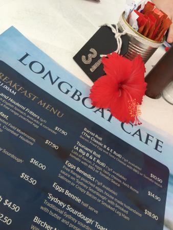 Fingal Bay, Australia: menu