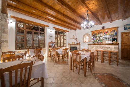 Makris Gialos, Grecia: inside restaurant