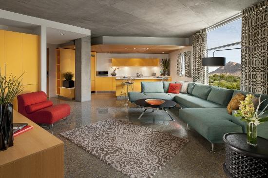 Hotel Valley Ho : Loft Suite Living Room Kitchen