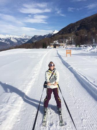 Nax, Schweiz: ski joering 27/01/16