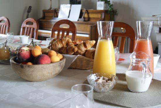 La Bihourderie: Petit déjeuner
