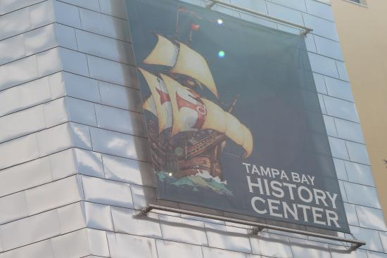 Tampa Bay History Center: The sign on the front of the Center