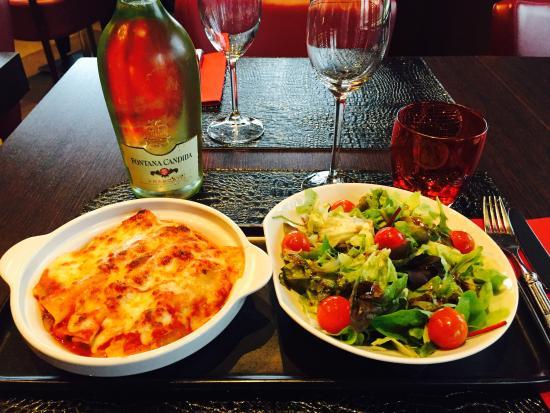 Il Gritti : Lasagne aux deux saumons et sa salade verte