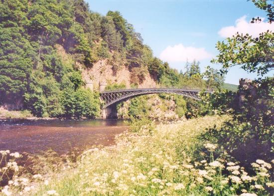 Craigellachie, UK: Telford bridge is one of the most photographed and admired in the country