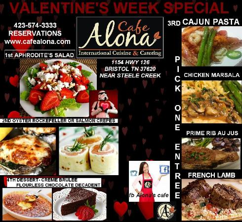 Bristol, TN: Valentine Menu 12th, 13th, 14th