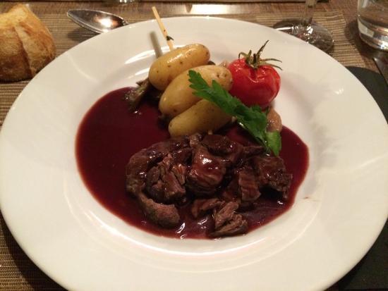 Granzay-Gript, Francia: Le plat du menu du midi.