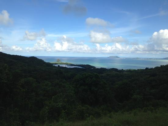 Kaneohe, HI: veiw of bay from jungle tour