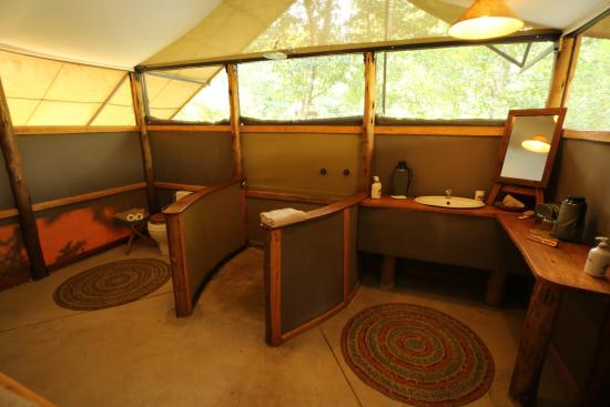 Really nice Tented Camp, beside a small river in the Queen Elizabeth National Park