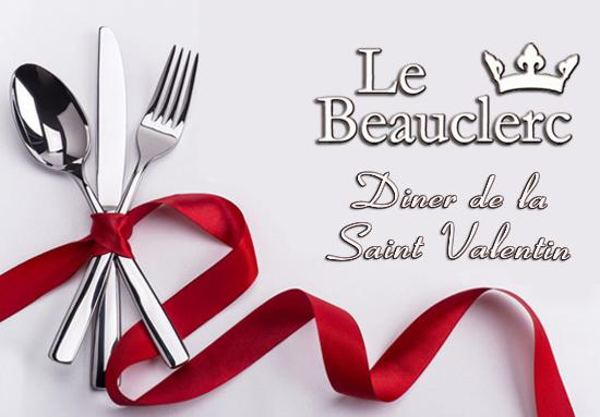 Le Beauclerc : Menu Saint Valentin