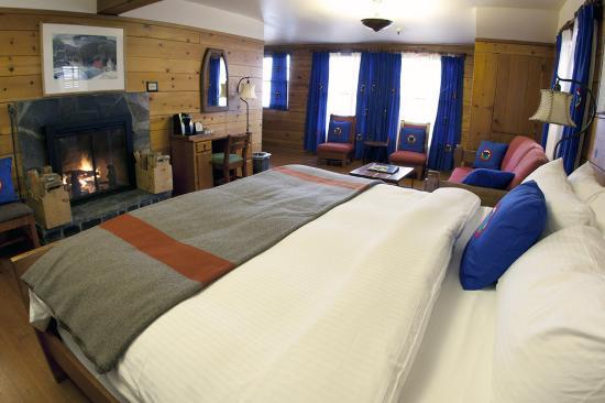 Timberline Lodge, Όρεγκον: Fireplace Guestroom