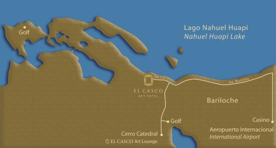 El Casco Art Hotel: Map