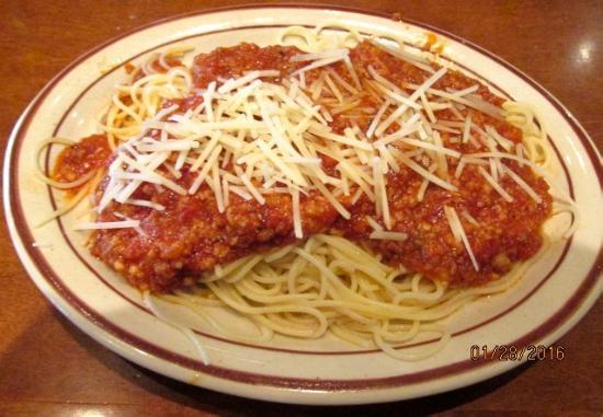 Hendersonville, TN: Spaghetti w/ meat sauce