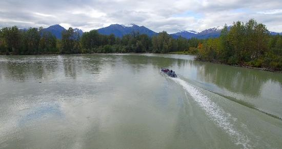 Haines, AK: Boat in motion