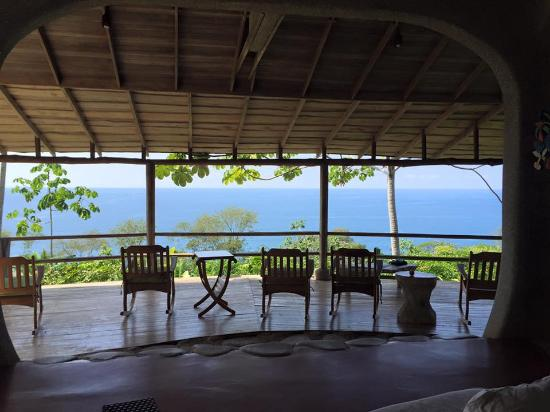 La Cusinga Eco Lodge: View from Common area, El Mirador.