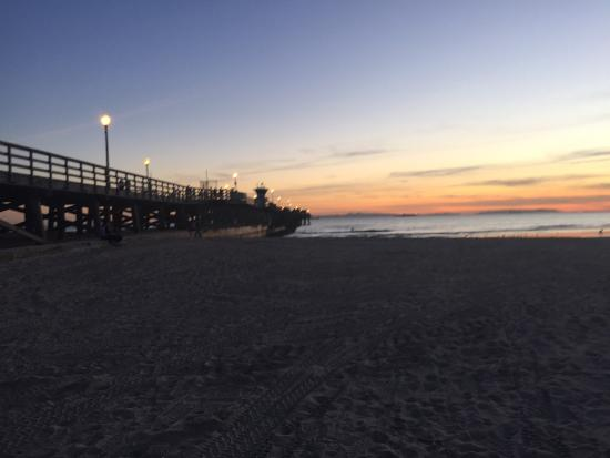 Seal Beach at Sunset in January.