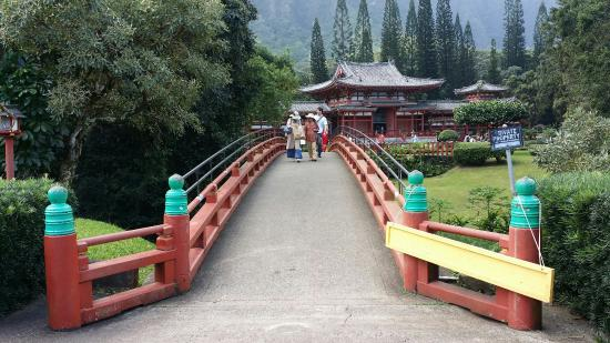 Kaneohe, HI: Beautiful Temple surroundwd by scenic mountains.