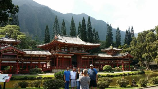 Kaneohe, Χαβάη: Beautiful Temple surroundwd by scenic mountains.