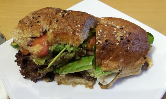Mom's Bakery: Roast Beef in Baguette Sandwich