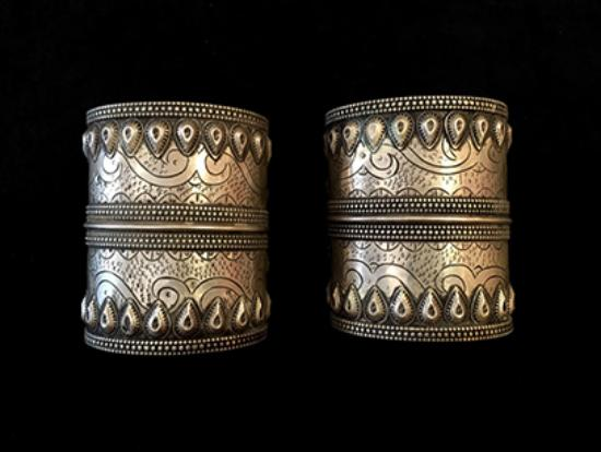 Sliver Cuffs, at Africa and Beyond in La Jolla, San Diego CA