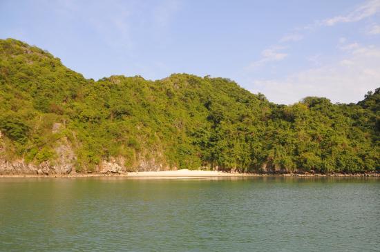 Emperor Cruises's Wild Beach in Bai Tu Long Bay, Vietnam